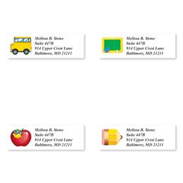 School Fun Sheeted Address Label Assortment