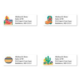 Southwestern Sheeted Address Label Assortment