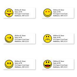 Happy Faces Sheeted Address Label Assortment