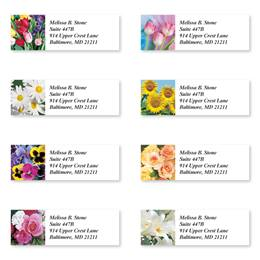 Beautiful Bouquets Sheeted Address Label Assortment