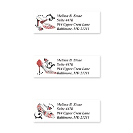 Graceful Shoes Sheeted Address Label Assortment