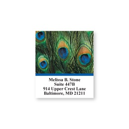 Peacock Feathers Sheeted Address Labels