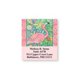 Pink Flamingo Sheeted Address Labels
