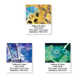 Movie Lovers Sheeted Address Label Assortment
