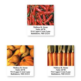 Vegetable Stand Sheeted Address Label Assortment
