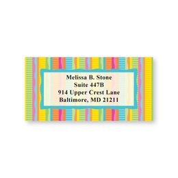 Bright Stripe Sheeted Address Labels