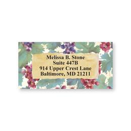 Grapes And Vine Sheeted Address Labels