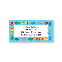 Fish On Parade Sheeted Address Labels
