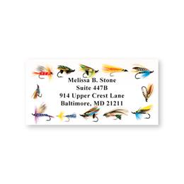 Fishing Flies Sheeted Address Labels