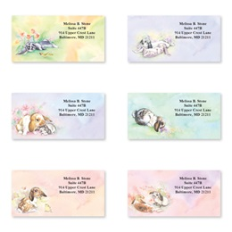 Bunnies Sheeted Address Label Assortment