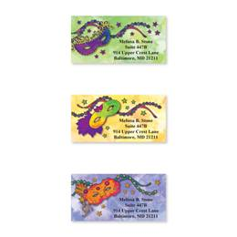 Mardi Gras Sheeted Address Label Assortment