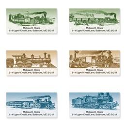 Riding The Rails Sheeted Address Label Assortment