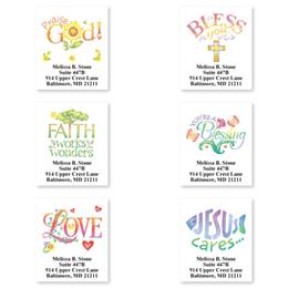 Faithful Expressions Sheeted Address Label Assortment