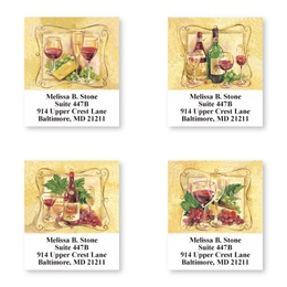 Wine Sheeted Address Label Assortment