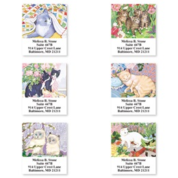 Living With Cats Sheeted Address Label Assortment