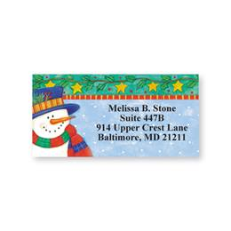 Snowman Sheeted Address Labels