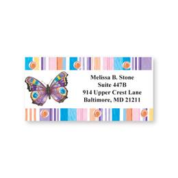 Butterfly Fantasy Sheeted Address Labels
