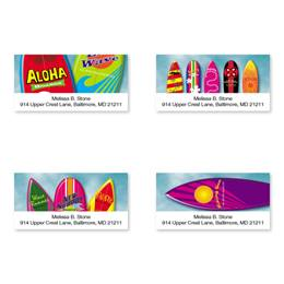 Surfs Up Sheeted Address Label Assortment