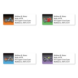 Motorcycles Sheeted Address Label Assortment