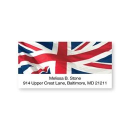 Union Jack Great Britain Flag Sheeted Address Labels