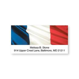 France Flag Sheeted Address Labels