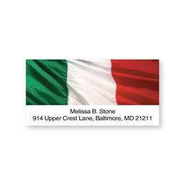 Italy Flag Sheeted Address Labels