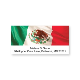 Mexico Flag Sheeted Address Labels