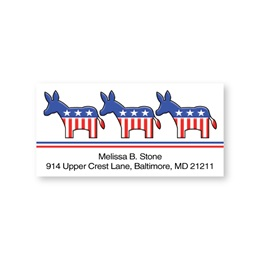 Democrat Sheeted Address Labels