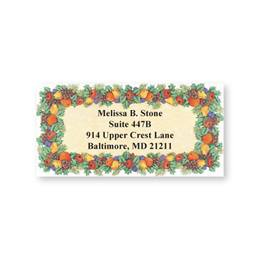 Fall Fruit Sheeted Address Labels