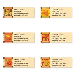 Fall Leaves Sheeted Address Label Assortment