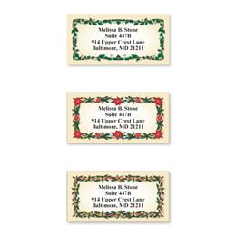 Evergreen Border Sheeted Address Label Assortment
