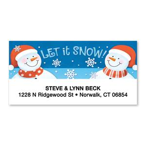 Let It Snow Sheeted Address Labels
