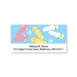Flip Flops Sheeted Address Labels