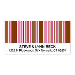 Stripes Sheeted Address Labels