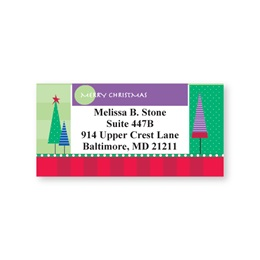 Christmas Trees Sheeted Address Labels