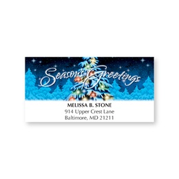 Snowy Tree Holiday Address Labels