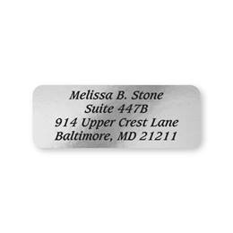 Silver Foil Rectangle Sheeted Address Labels