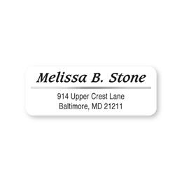 Silver Foil Accent On White Sheeted Address Labels