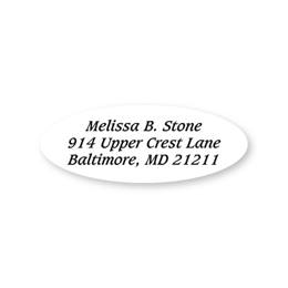 White Oval Sheeted Address Labels