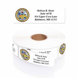 Army Designer Rolled Address Labels