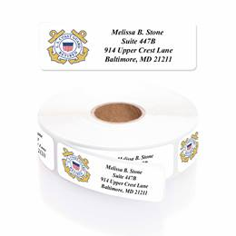 Coast Guard Retired Designer Rolled Address Labels