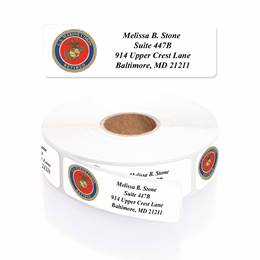 Marines Retired Designer Rolled Address Labels