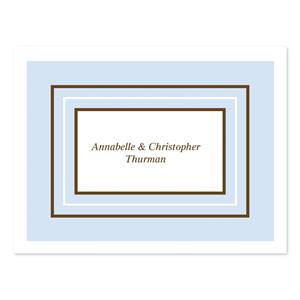 Blue Personalized Note Cards