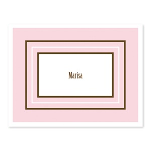 Pink Personalized Note Cards
