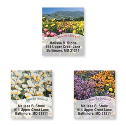 Field Of Flowers Bookplate Assortment