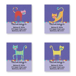 Fun Cats Bookplate Assortment