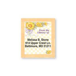 Sunflower Bouquet Bookplates