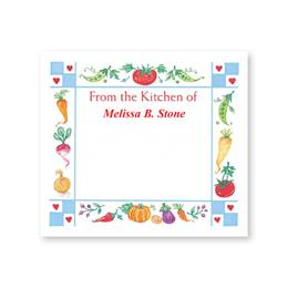 Gingham Hearts Personalized Canning Labels