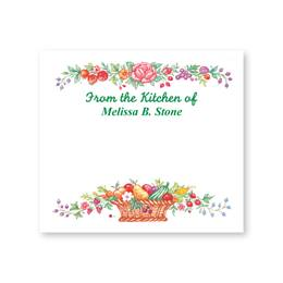 Harvest Basket Personalized Canning Labels