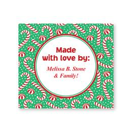 Candy Canes Personalized Goodie Labels